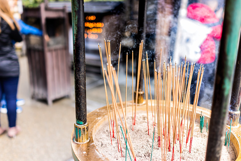 Incense sticks in temples and shrines